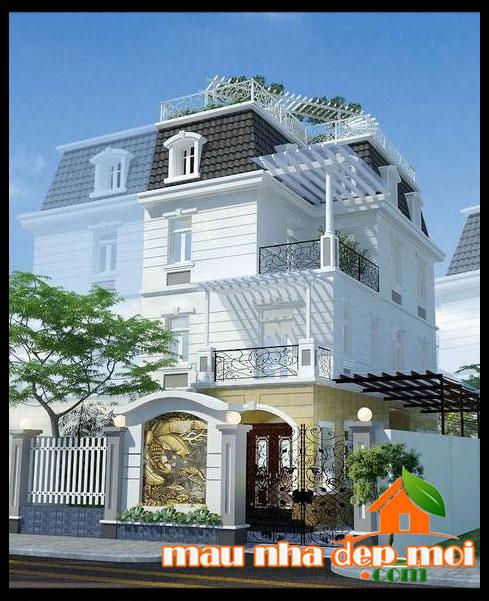 Mẫu thiết kế biệt thự đẹp 3 tầng đẳng cấp với phong cách Châu Âu