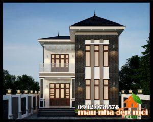 Mẫu biệt thự hiện đại 2 tầng 85m2 kiến trúc mái thái sang đẹp